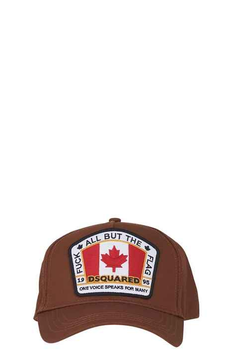Dsquared2 cap fuck the flag brown SS21