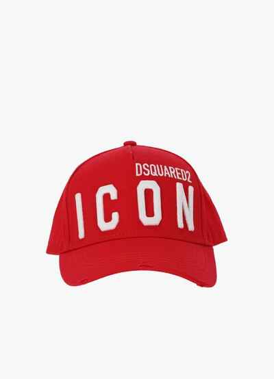 Dsquared2 cap icon red SS21