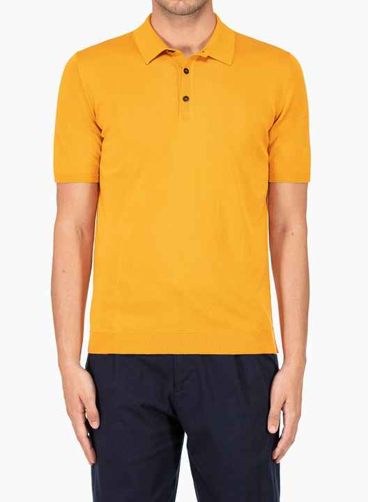 Roberto Collina yellow polo SS21