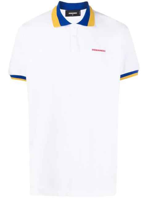 New Dsquared2 white polo SS21