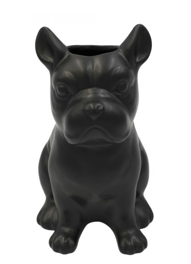 CERAMIC BULLDOG VASE