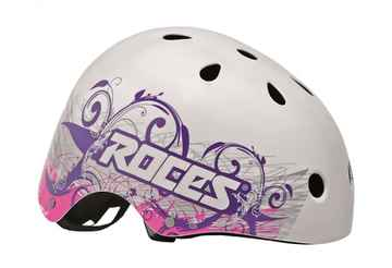 Roces Tattoo Aggressive helm wit/blauw/roze