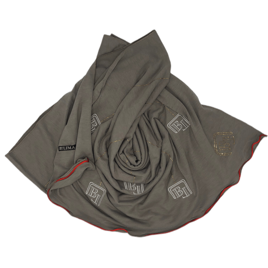 Bylima ricamo embroidery grijs fw19