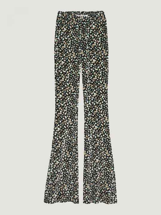 Catwalk Junkie - Velvet Flare Pants Flower Party
