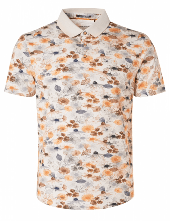 No-Excess Allover Printed Polo Organic
