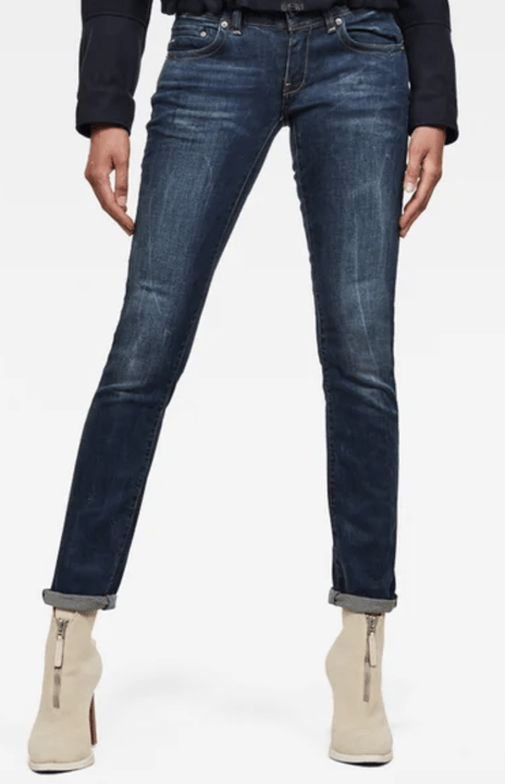 G-STAR Midge Saddle Mid Waist Straight Jeans