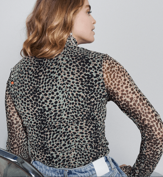 Catwalk Junkie Long Sleeve Jungle Leopard