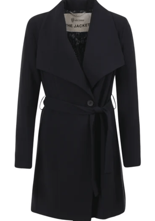 Giacomo Coat - Wrap, Dark blue