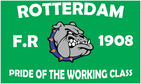 Vlag  Rotterdam Pride of the working class.