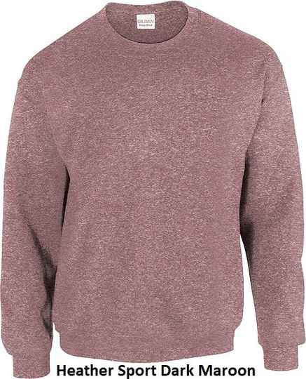 Sweater Heather Sport Dark Maroon