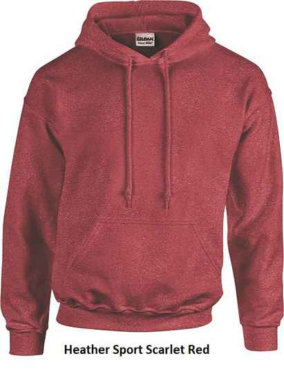 Hooded Heather Sport Scarled Red