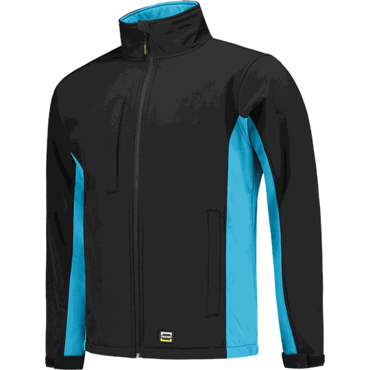 Tricorp Softshell Bicolor  Black-Turquoise