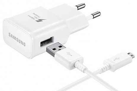 Samsung Fast Charge Travel Adapter + Micro-USB naar USB-kabel - Wit