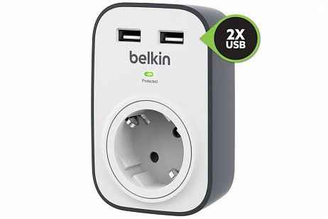 Belkin 2-poorts Surge Protector 2,4A