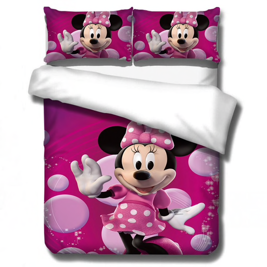 Disney Mickey Minnie mouse Beddengoed Set Dekbedovertrek
