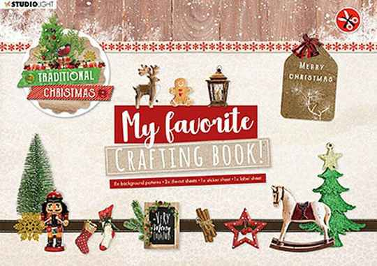 Crafting Book  Studio Light Traditional Christmas Elements StansblokSL96