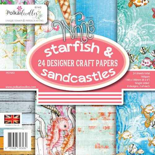 Polkadoodles Paperpack Starfishes & Sandcastles PD 7953