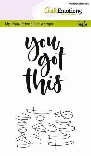 Clearstamps A6 - handletter - you got this (Eng)