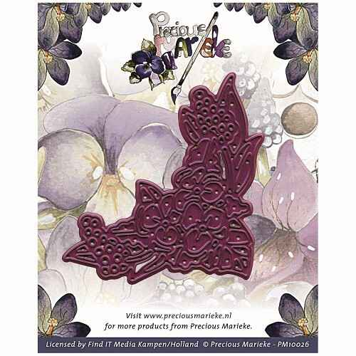 Find it -  PM 10026 Die - Precious Marieke - Corner Swirl