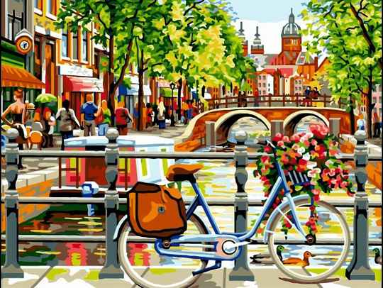 Painting By Numbers Set Canal 7352