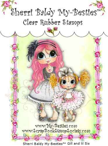 MB 07 Clear Rubber Stamps Gill & Little Sister My-Besties