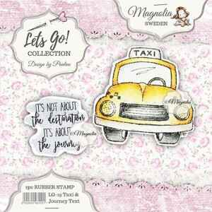 Magnolia Stamp -2019-LG 02 Taxi & Journey Text