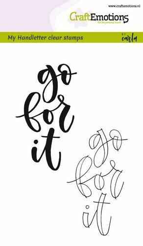 Clearstamps A6 - handletter - go for it (Eng)