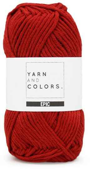 Yarn and colors Epic 030 red wine