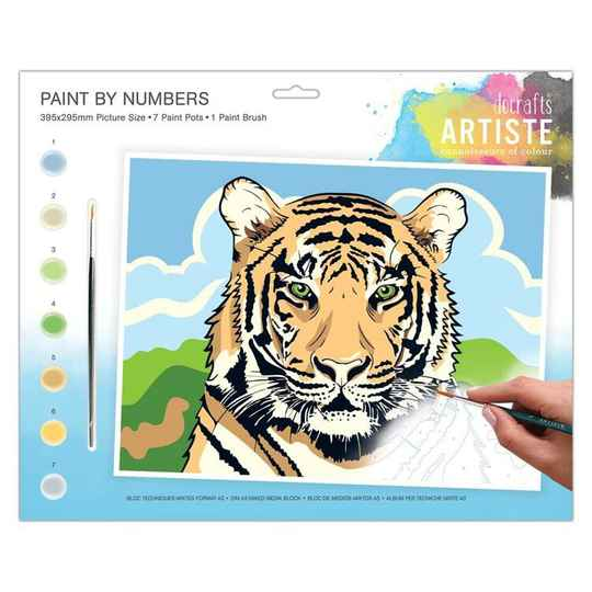 Painting By Numbers - Regal Tiger