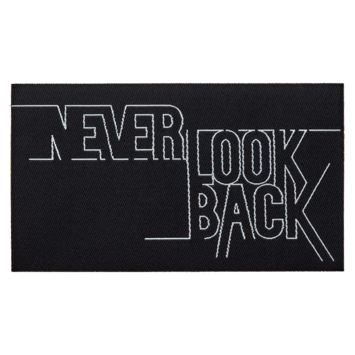 Union Applicatie Never Look Back 120x70mm