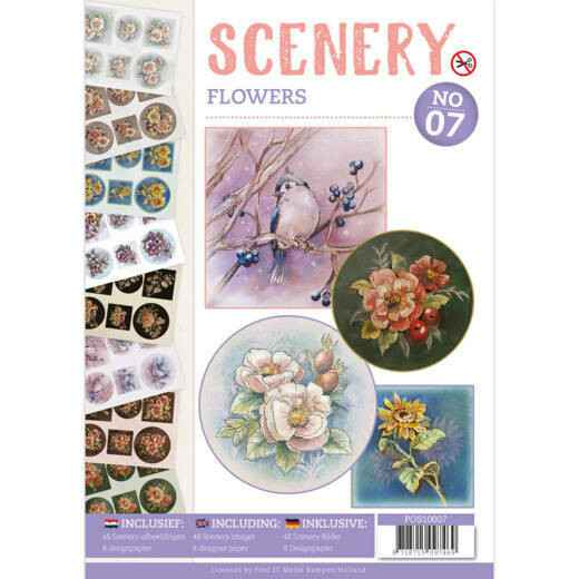 Push Out book Scenery 7 Flowers