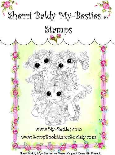 MB 32 Clear Rubber Stamps Wee Winged Ones Girl Friends My-Besties