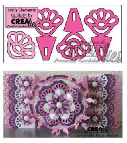 Crealies Doily Elements no. 01