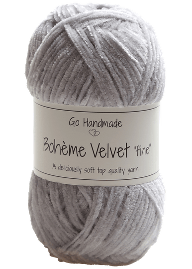 Go Handmade Boheme Velvet Fine 17601 Light Grey
