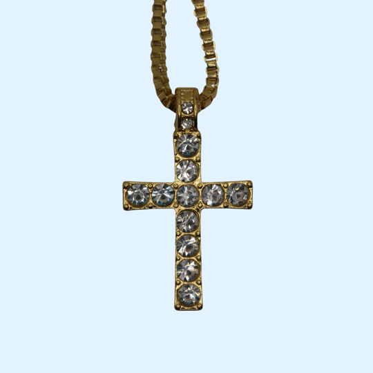 Iced Out Jezus Kruisje