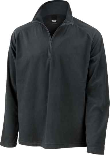 Micro fleece jack met hals rits adult 2400