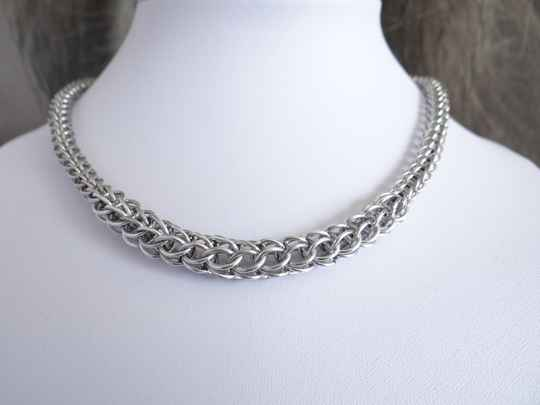 Chainmail collier dik & dun