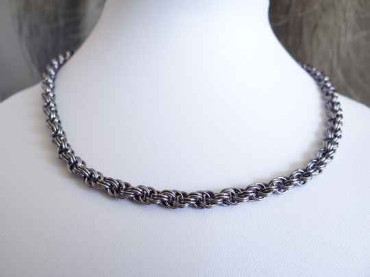 Chainmail collier Round Cord