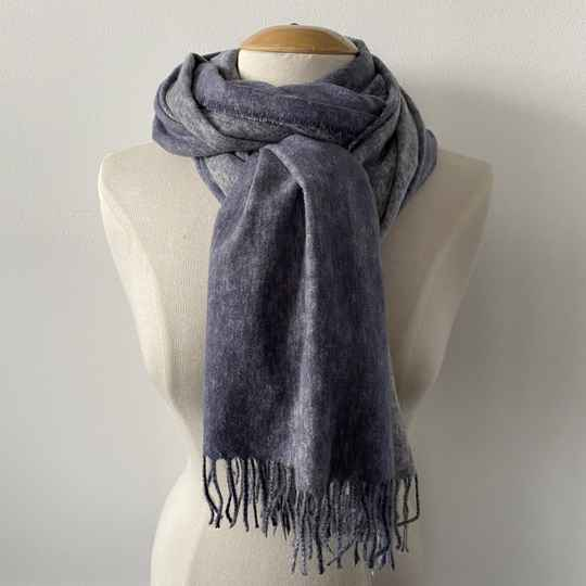 Sjaal winter - two colors / blauw-wit