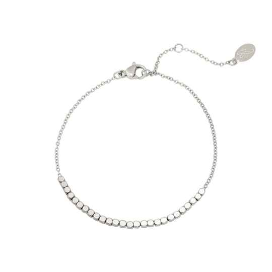 Armband line of dots - zilver