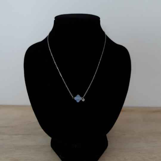 Ketting - blue stone / zilver