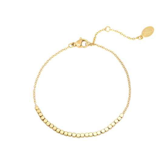 Armband line of dots - goud