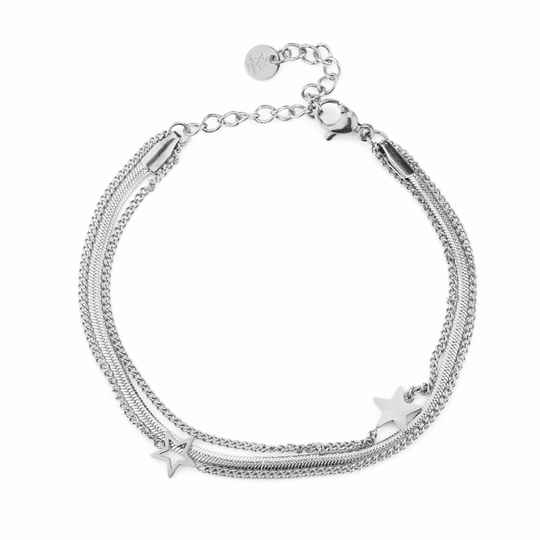 Armband - Double Stars - Zilver