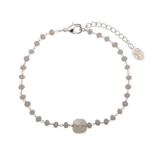 Armband all about the grey stones - zilver