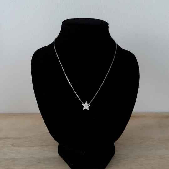 Ketting - ster / zilver