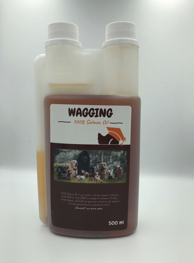 Wagging zalmolie for dogs