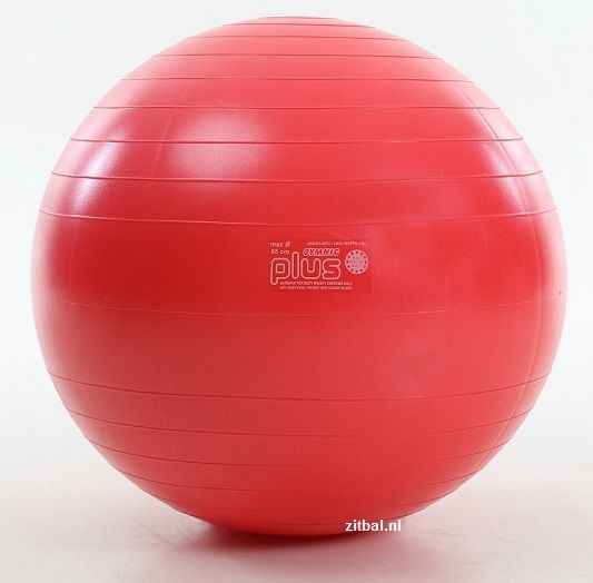 Gymnic fitnessbal Plus 65 cm rood