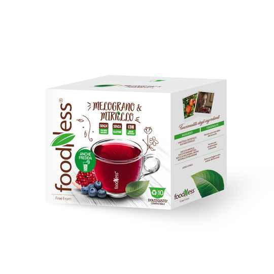 Foodness - Bosbessen-granaatappel thee - Dolce Gusto® - 10 capsules