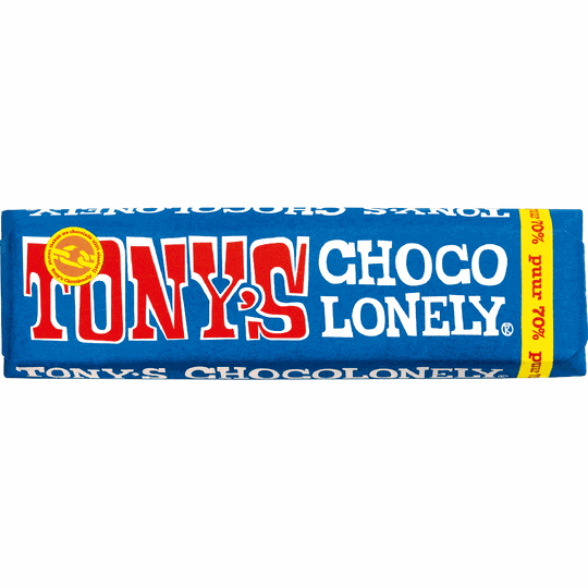 Tony Chocolonely - pure chocolade 50 gram