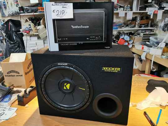 Kicker / rockford subwooferset 300 watt